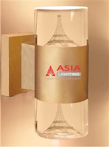 Đèn tường 2 đầu - Tháp Eiffel - Thân sơn mầu đồng