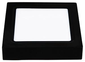Đèn led ốp nổi vuông vỏ đen 6W