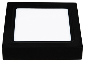 Đèn led ốp nổi vuông vỏ đen 12W